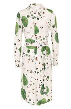 Bally   Шелковое платье-рубашка с поясом и принтом Bally   Clouty