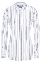 Equipment   Шелковая блуза прямого кроя в полоску Equipment   Clouty