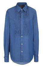 BURBERRY   Хлопковая блуза с декоративной отделкой Burberry   Clouty
