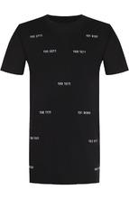 11 By Boris Bidjan Saberi | Хлопковая удлиненная футболка с нашивками 11 by Boris Bidjan Saberi | Clouty