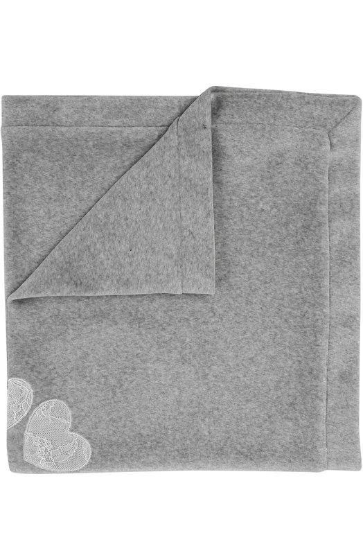 Aletta   Серый Одеяло из хлопка с кружевной отделкой Aletta   Clouty
