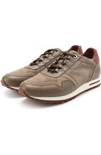 Loro Piana | Замшевые кроссовки с кожаной отделкой на шнуровке Loro Piana | Clouty