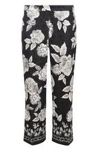 St. John | Укороченные расклешенные брюки с цветочным принтом St. John | Clouty