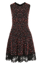 Oscar De La Renta | Буклированное платье-миди с кружевной отделкой Oscar de la Renta | Clouty