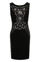 Roberto Cavalli   Приталенное платье-миди с кружевной отделкой Roberto Cavalli   Clouty