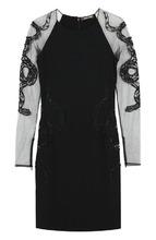Roberto Cavalli   Платье-футляр с прозрачными рукавами Roberto Cavalli   Clouty