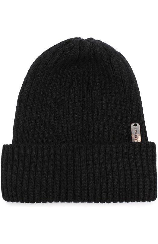 Cortigiani | Черный Кашемировая шапка фактурной вязки Cortigiani | Clouty