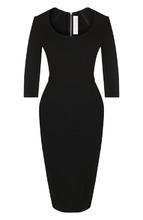 Victoria Beckham | Однотонная платье-футляр из вискозы Victoria Beckham | Clouty