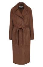 Loewe | Однотонное замшевое пальто с поясом Loewe | Clouty