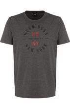 BOSS | Хлопковая футболка с принтом BOSS | Clouty