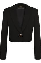Versace | Укороченный шелковый жакет на одной пуговице Versace | Clouty
