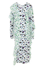 KENZO | Платье-миди с цветочным принтом и плиссированными оборками Kenzo | Clouty
