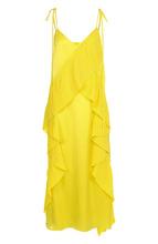 KENZO | Однотонное платье-миди с плиссированными оборками Kenzo | Clouty