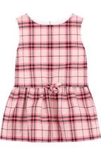 BURBERRY | Хлопковое мини-платье с поясом на кулиске Burberry | Clouty