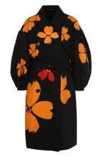 SIMONE ROCHA   Хлопковое пальто с поясом и принтом Simone Rocha   Clouty