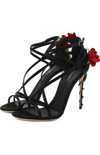 Dolce & Gabbana | Текстильные босоножки Keira на шпильке Dolce & Gabbana | Clouty