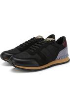 VALENTINO | Комбинированные кроссовки Valentino Garavani Rockrunner на шнуровке Valentino | Clouty