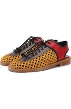 Marni | Кожаные ботинки с отделкой из меха Marni | Clouty