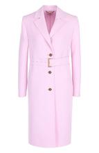 Versace | Однотонное шерстяное пальто с поясом Versace | Clouty