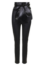 VALENTINO | Кожаные брюки с завышенной талией Valentino | Clouty