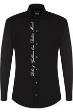 Dolce & Gabbana | Хлопковая рубашка с контрастной вышивкой Dolce & Gabbana | Clouty