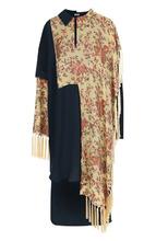 Loewe | Платье-миди асимметричного кроя с бахромой Loewe | Clouty