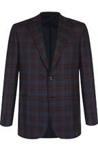 Brioni | Однобортный шерстяной пиджак в клетку Brioni | Clouty