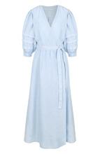120% Lino | Однотонное льняное платье с коротким рукавом 120% Lino | Clouty