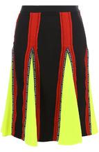 Versus | Расклешенная юбка из полиэстера с контрастными вставками Versus Versace | Clouty