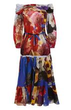 Roberto Cavalli   Приталенное платье из смеси хлопка и льна с принтом Roberto Cavalli   Clouty