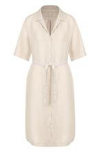 120% Lino | Льняное платье-миди с поясом 120% Lino | Clouty