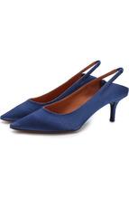 VETEMENTS | Атласные туфли на каблуке kitten heel Vetements | Clouty