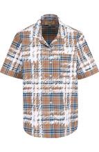 BURBERRY   Хлопковая блуза свободного кроя с коротким рукавом Burberry   Clouty