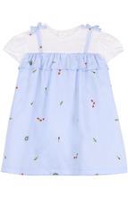 Il Gufo | Хлопковое платье с принтом и оборкой Il Gufo | Clouty