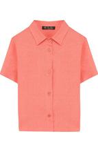 Loro Piana | Льняная рубашки прямого кроя с короткими рукавами Loro Piana | Clouty