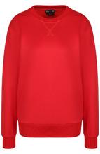 Tom Ford   Однотонный пуловер из смеси хлопка и шелка Tom Ford   Clouty