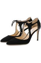Jimmy Choo | Замшевые туфли Vanessa 85 на шпильке Jimmy Choo | Clouty
