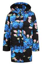 MSGM | Стеганая куртка с капюшоном и принтом MSGM | Clouty