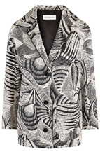 Dries Van Noten | Хлопковый жакет с накладными карманами и принтом Dries Van Noten | Clouty