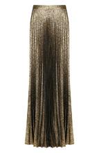 SAINT LAURENT | Плиссированная юбка-макси из шелка Saint Laurent | Clouty