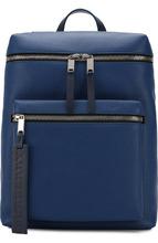 BURBERRY | Кожаный рюкзак с внешним карманом на молнии Burberry | Clouty