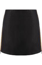 GIVENCHY | Кожаная мини-юбка с контрастной молнией по бокам Givenchy | Clouty