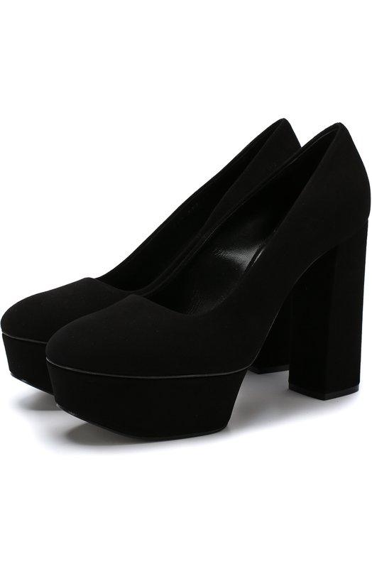 0ebb9763a Casadei   Черный Замшевые туфли Chunky на устойчивом каблуке и платформе  Casadei   Clouty ...