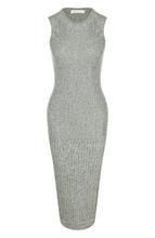 Victoria Beckham | Вязаное платье-миди с круглым вырезом Victoria Beckham | Clouty