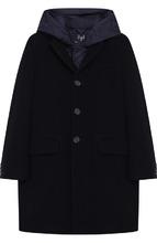 Il Gufo | Однобортное пальто из смеси шерсти и кашемира с капюшоном Il Gufo | Clouty