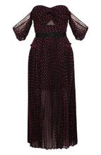 Self-Portrait   Приталенное платье-миди с принтом и открытыми плечами self-portrait   Clouty