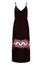 Stella McCartney | Бархатное платье-миди на бретельках с кружевной вставкой Stella McCartney | Clouty