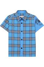 BURBERRY | Хлопковая рубашка с воротником кент Burberry | Clouty