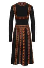 M Missoni | Вязаное платье-миди с декоративной вышивкой M Missoni | Clouty