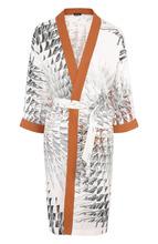 Kiton | Шелковое кимоно с поясом и принтом Kiton | Clouty